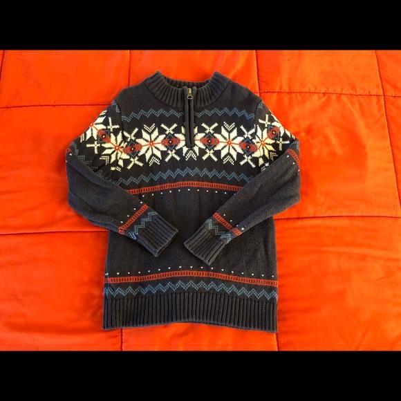 Hanna Andersson Fair Isle Zippered Sweater